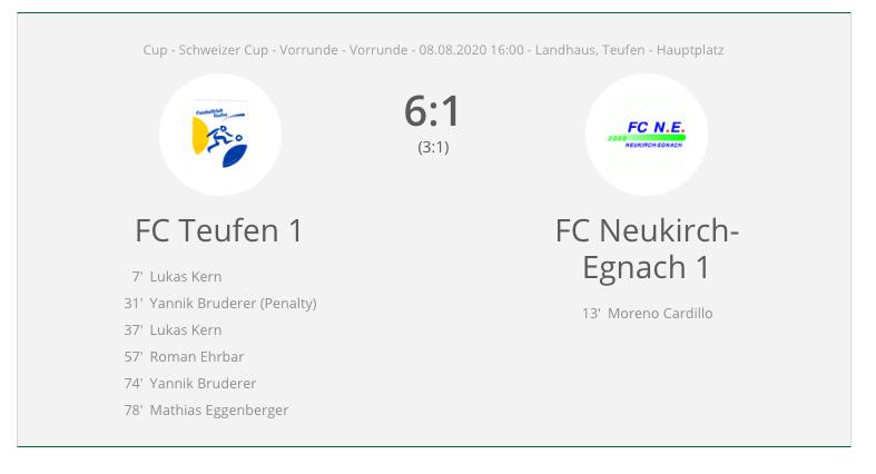 FC Teufen 1 : FC Neukirch Egnach 1